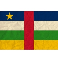 Central African Republic paper flag vector image vector image