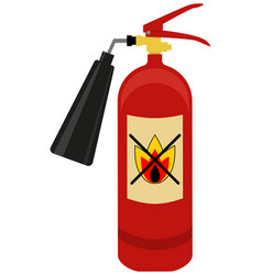 fire extinguisher logo vector image