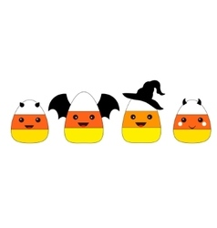 Halloween Candy Corn Flat Design vector image vector image