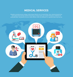 online medical services flat design vector image vector image