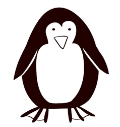 Pinguin animal cartoon design vector image