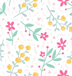 Spring mood repeat floral pattern vector image vector image