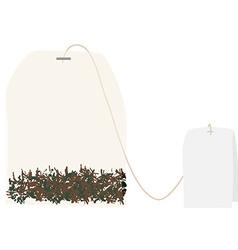 Tea bag vector image