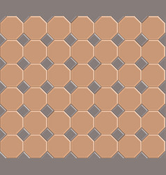 3d pavement brick pattern stone vector image