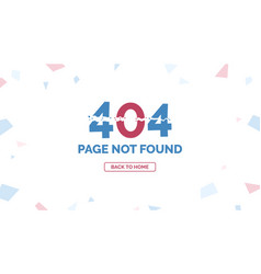 404 error page not found with return home button vector