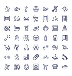 49 kid icons vector