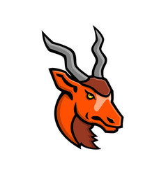 Addax head mascot vector