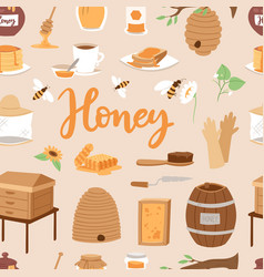 Apiary honey farm beekeeping vector
