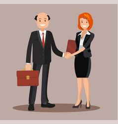 background business cooperation handshake vector image