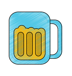 beer in glass icon image vector image