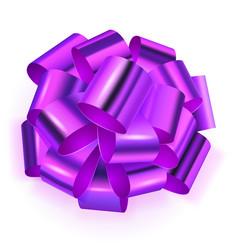 big bow of shiny ribbon vector image