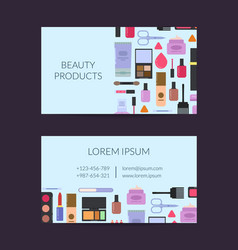 business card template for beauty brand vector image
