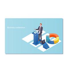 Business conference invitation conceptman speaks vector