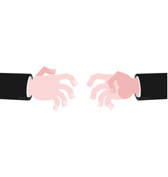 business hands reach for handshake reach out vector image