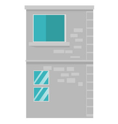 city building cartoon vector image