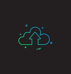 cloud up icon arrow vector image