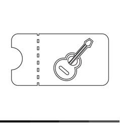 concert ticket icon design vector image
