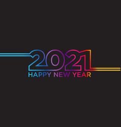Creative concept 2021 happy new year vector