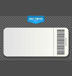 Creative of empty ticket vector