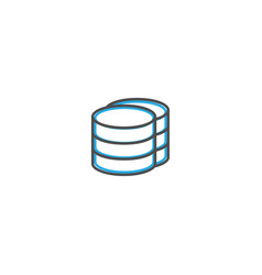 database icon design essential icon vector image
