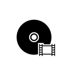 disc film video cd dvd flat icon vector image