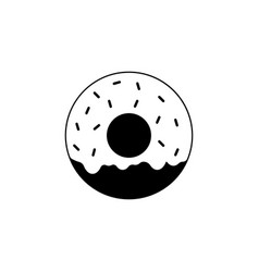 donut solid icon food drink elements vector image