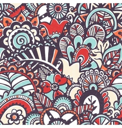 Doodle seamless print floral background vector
