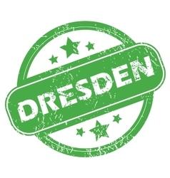 Dresden green stamp vector