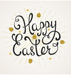 Easter background with greeting inscription vector