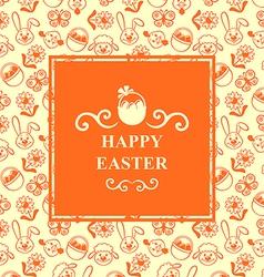 Easter muzzle square orange vector
