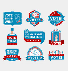 Encourage voting badges and stickers vector
