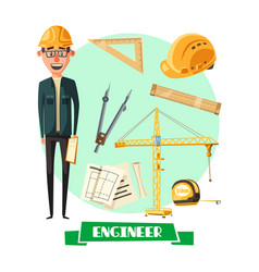 Engineer with tool icon for profession design vector