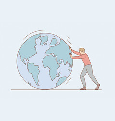 environmental conversation and save earth concept vector image