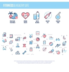 Fitness equipment sports training items weight vector