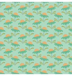 Floral pattern chamomile light green vector