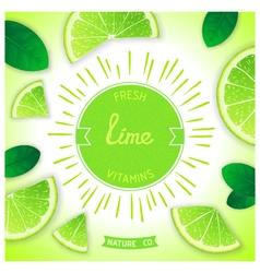 Fresh lime vitamins vector