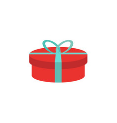 gift box icon flat birthday present giftbox vector image