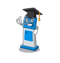 Graduation information digital kiosk with in vector