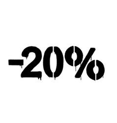 graffiti discount made stencil -20 percent vector image