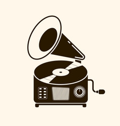 gramophone vinyl record with label music vector image