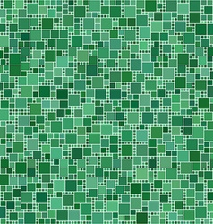 Green square mosaic background vector