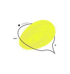 grunge doodle sketch 90s colored frame vector image