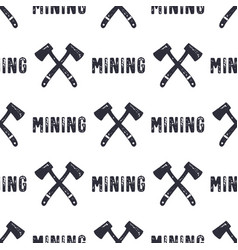 hand drawn mining seamless background can be used vector image