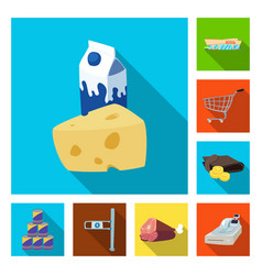 isolated object of food and drink sign collection vector image