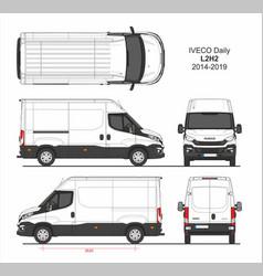 Iveco daily cargo delivery van l2h2 2014-2019 vector