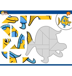 Jigsaw puzzle activity vector