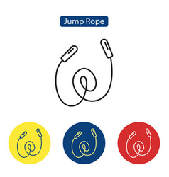 jump rope fit icons vector image