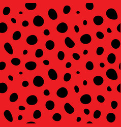 ladybug polka dot background vector image