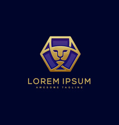lion luxury template vector image