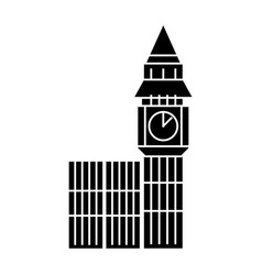 london big ben icon black vector image